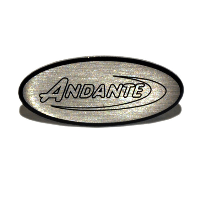 Andante Pin Badge Front View
