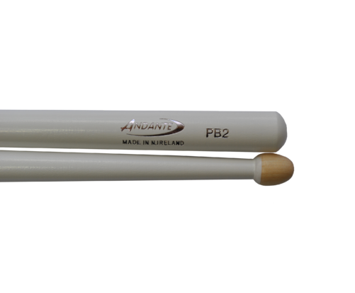 Andante PB 2 Snare Drumsticks White
