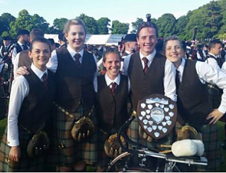 The Glasgow Skye Association Pipe Band Grade 2, 2016 European Champions.