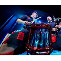 The Red Hot Chilli Pipers for the impressive photos of the guys performing on tour.