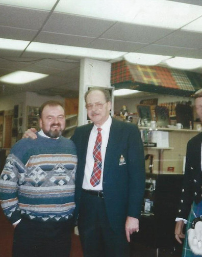 Sam with Jack Thompson owner of Scottish Imports during his visit to USA, in the mid 90's.