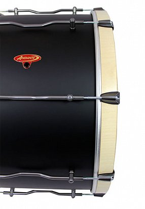 Half Front View of Pro Bass Drum