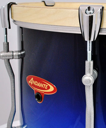Close Side View of Tenor Drum
